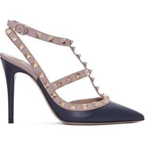 Valentino caged rock stud heels